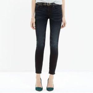 EUC Madewell Skinny Skinny Crop Jeans Tempest Wash